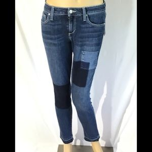 Joe's Skinny Ankle Patchwork, Raw Hem, Jeans. New
